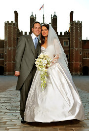 Sophie Winkleman glowed during her big day wearing an Anna Bystrova creation.