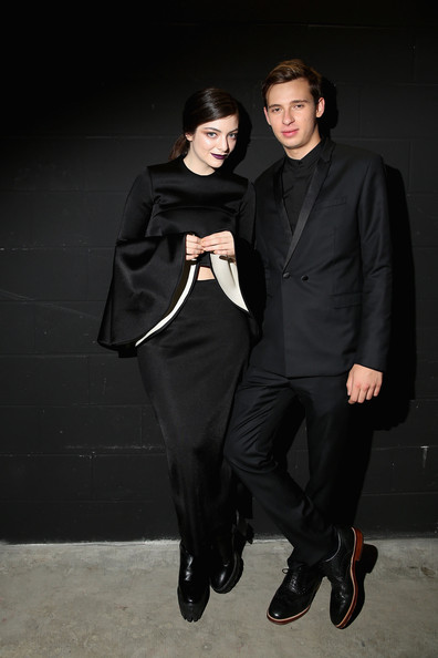 Lorde Long Skirt [suit,fashion,formal wear,outerwear,fashion design,human,tuxedo,little black dress,haute couture,dress,lorde,flume,aria awards 2013 - awards room,australia,sydney,aria awards,the star]