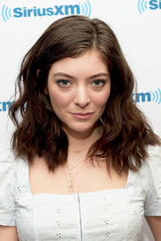 Lorde accessorized with some delicate gold necklaces.