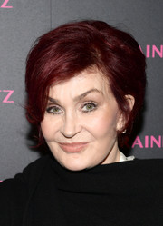 Sharon Osbourne sported a short side-parted hairstyle at the launch of the Eye Bangle.