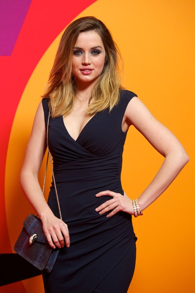 More Pics of Ana de Armas Strappy Sandals (3 of 8) - Heels Lookbook - StyleBistro [clothing,dress,fashion model,yellow,cocktail dress,orange,lady,beauty,fashion,blond,los amantes pasajeros,premiere party,los amantes pasajeros premiere party at casino de madrid on march,spanish actress ana de armas,madrid,spain]