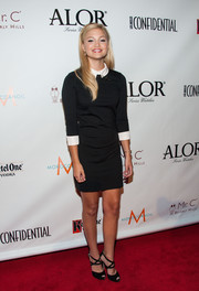Olivia Holt donned a preppy LBD with a white collar and cuffs for the LA Confidential pre-Emmy celebration.