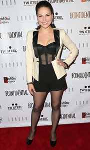 Lana Parrilla made her black shorts red carpet-worthy by pairing them with a tux jacket.