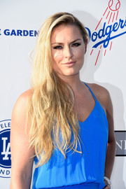 Lindsey Vonn wore her long locks loose in a casual side-parted style during the Blue Diamond Gala.
