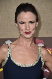 Juliette Lewis styled her hair into a simple French twist for the premiere of 'Camping.'