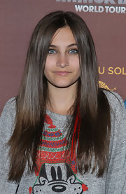 Paris Jackson wore her hair sleek straight at the premiere of 'The Immortal' World Tour.