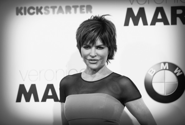 More Pics of Lisa Rinna Layered Razor Cut (1 of 13) - Short Hairstyles Lookbook - StyleBistro [veronica mars,photograph,text,black-and-white,photography,font,technology,monochrome,stock photography,style,advertising,arrivals,lisa rinna,los angeles,california,hollywood,tcl chinese theatre,los angeles premiere of,premiere]