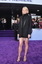 Gwyneth Paltrow showed off her toned legs in a black short suit by G. Label at the world premiere of 'Avengers: Endgame.'