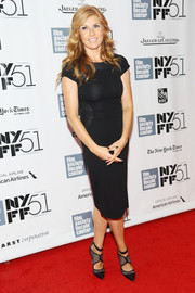 Connie Britton finished off her look with a pair of edgy-chic black pumps by Monique Lhuillier.