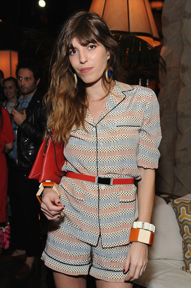Lou Doillon Cuff Bracelet [fashion model,clothing,fashion,fashion show,thigh,shoulder,leg,fashion design,shorts,street fashion,marni,lou doillon,lloyd wright,collection launch - inside,california,los angeles,sowden house,h m,h m collection launch]