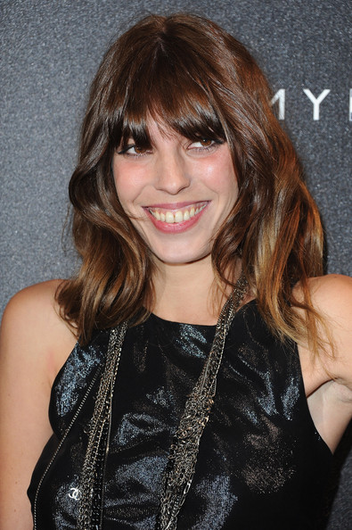 Lou Doillon Long Wavy Cut with Bangs [hair,hairstyle,face,bangs,brown hair,layered hair,beauty,eyebrow,blond,long hair,tommy hilfiger,lou doillon,paris,france,red carpet,flagship opening,champs-elysees]