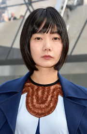 Bae Doo-Na kept it simple and youthful with this bob at the Louis Vuitton fashion show.
