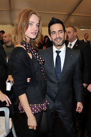 Marc Jacobs rocked his signature spiked haircut while attending Fashion Week.