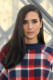 Jennifer Connelly showed off super-sleek tresses at the Louis Vuitton Fall 2019 show.