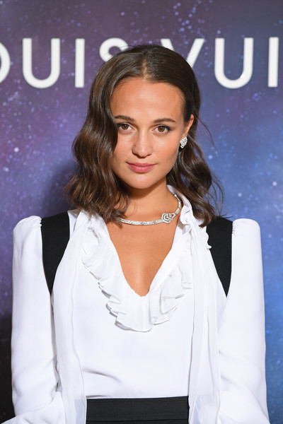 More Pics of Alicia Vikander Medium Wavy Cut (1 of 7) - Alicia Vikander Lookbook - StyleBistro [hair,hairstyle,beauty,fashion,shoulder,lip,blond,long hair,premiere,neck,jewelry,louis vuitton,alicia vikander,fashion,hair,hairstyle,paris,event,louis vuitton stellar jewelry cocktail event,fashion show,alicia vikander,paris fashion week,tomb raider,louis vuitton,paris,2020,fashion,photograph,fashion show,actor]