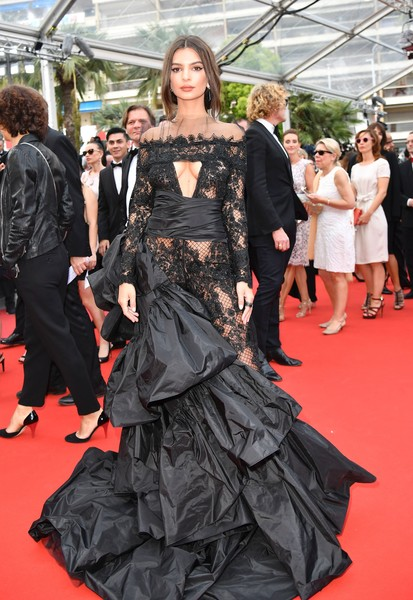 Emily Ratajkowski in Peter Dundas at the Cannes Film Festival