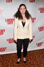 Maura Tierney chose classic black pants for her evening look.