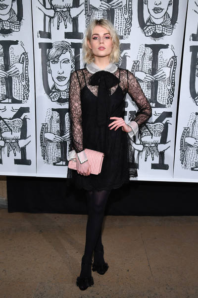 Lucy Boynton Quilted Clutch