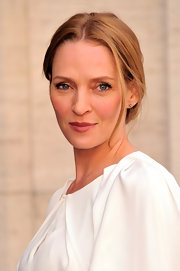 A deep blush lipstick gave Uma Thurman a touch of color at the American Ballet Spring Gala.