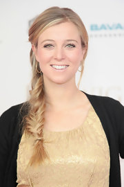 Nina Eichinger wove her bright blond locks into a pretty fishtail for the 'Lugwig II' premiere.