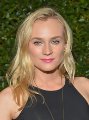 A bubble gum pink lipstick kept Diane Kruger's beauty look fun and fresh!