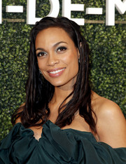 Rosario Dawson attended the MAISON-DE-MODE sustainable style celebration wearing her hair in semi dreads.