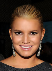Jessica Simpson's makeup was perfectly balanced during the first day of Mercedes-Benz Fashion Week. She wore a smoky eye created with black liner and shimmering dark gray eyeshadow.