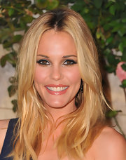 Leslie Bibb opted for full lashes and a metallic smoky look for the Miu Miu 'Muta' party.