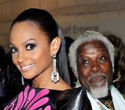 Alesha showed off a decadent pair of diamond earrings while walking the red carpet at the MOBO Awards.
