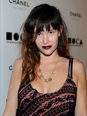Paz de la Huerta was head-to-toe sexy at the MOCA gala with her messy-glam wavy 'do and low-cut lace-overlay dress.
