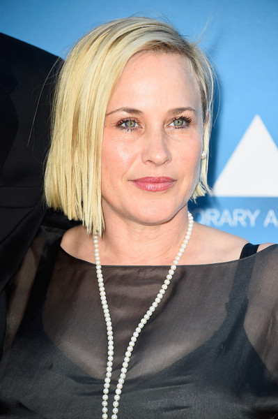Patricia Arquette attended the MOCA Gala wearing her hair in an edgy bob.