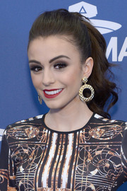 Cher Lloyd fixed her hair in a lovely wavy ponytail for the MTV EMA telecast meet and greet.