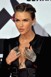 Ruby Rose's braided updo at the MTV EMAs was equal parts sweet and edgy.