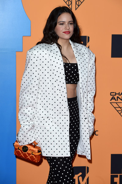 More Pics of Rosalía Pantsuit (4 of 8) - Suits Lookbook - StyleBistro [clothing,polka dot,pattern,fashion model,beauty,fashion,outerwear,design,photography,black-and-white,red carpet arrivals,emas 2019,rosalia,fashion,polka dot,design,polka dot,fashion model,mtv,fibes conference,rosal\u00eda,fashion,hawtcelebs,mtv europe music awards,polka dot / m,design,polka dot / m,model,0jc]