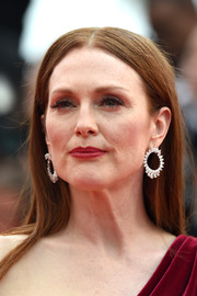 Julianne Moore worked the 'Mad Max: Fury Road' Cannes red carpet dripping with diamond wreath earrings by Chopard.