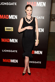 Coco Rocha sheathed her pregnancy curves in a lovely LBD with a tiny mermaid hem for the 'Mad Men' special screening.