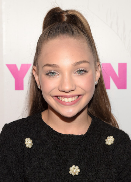 Maddie Ziegler Ponytail [hair,face,hairstyle,eyebrow,beauty,lip,forehead,blond,smile,brown hair,maddie ziegler,nylon,west hollywood,california,young hollywood party,bcbgeneration,hyde sunset: kitchen cocktails]