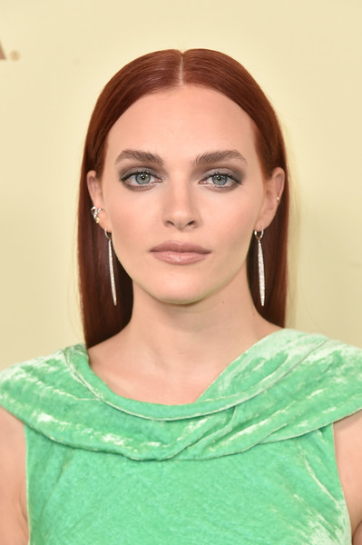 Madeline Brewer Long Straight Cut [the hollywood reporter,hair,face,eyebrow,lip,hairstyle,skin,chin,head,beauty,shoulder,nominees,reporter,contenders,arrivals,contenders,madeline brewer,celebrate emmy award,hollywood,sag-aftra]