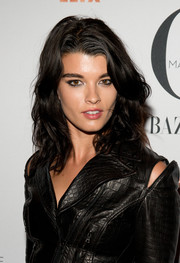 Crystal Renn framed her face with a gorgeous wavy 'do for the New York premiere of 'Mademoiselle C.'