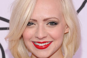 Madilyn Bailey Bright Lipstick