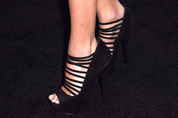 Madison Beer Peep Toe Pumps
