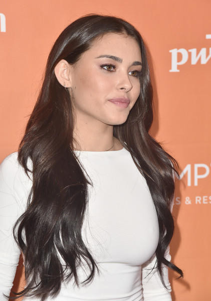 Madison Beer Long Center Part [trevor project,hair,face,hairstyle,long hair,eyebrow,chin,beauty,lip,forehead,brown hair,arrivals,madison beer,trevorlive,2017 trevorlive la,la,beverly hills,california]