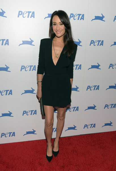 Maggie Q Little Black Dress