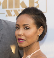 Jada Pinkett Smith attended the Amsterdam premiere of 'Magic Mike XXL' wearing her hair in a brushed-back bob.