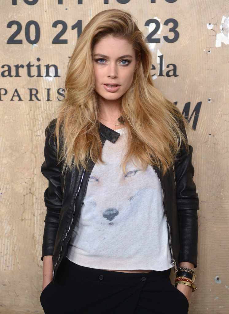 Doutzen+Kroes in Maison Martin Margiela With H&M Global Launch Event - Red Carpet