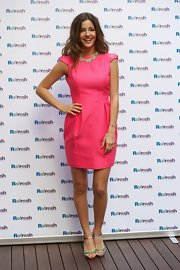 Model Malena Costa presented the new 'Refresh' campaign in a flirty chic pink dress.