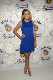 A flirty blue mini dress shows off Lauren Conrad's tanned limbs at the Malibu Summer Soiree.
