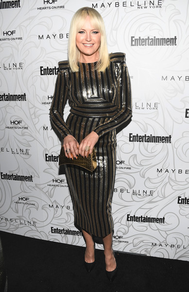 Malin Akerman Metallic Clutch