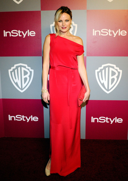 Malin Akerman Evening Dress [arrivals,malin akerman,hotel,beverly hills,california,instyle,warner brothers,golden globes party,post-party,warner bros. 68th annual golden globe awards]
