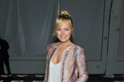 Malin Akerman Printed Coat